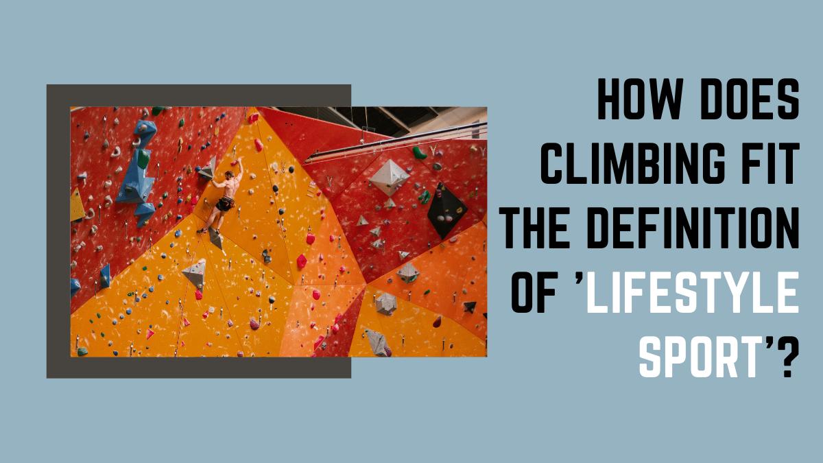 a person climbing on an orange climbing wall